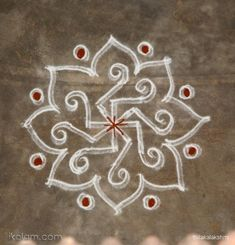 Freehand kolam, Indian floor art