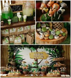 Jungle themed birthday party with Such Cute Ideas via Kara's Party Ideas KarasPartyIdeas.com #jungleparty #junglepartyideas #junglecake #safariparty #partyideas (2)