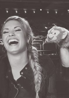 Demi Lovato... And an adorable monkey :)