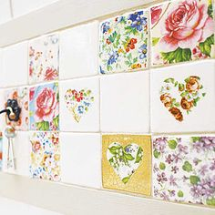 Set Of Patchwork Tiles - interior accessories