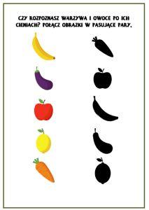 Owoce i warzywa - karty obrazkowe i zadania - Pani Monia Projects To Try, Fruit, Montessori, Baby, Speech Language Therapy, Paper, Baby Humor, Infant, Babies