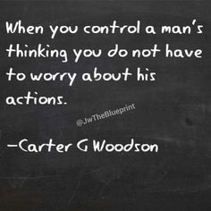 An interesting quote from Carter G. The lesson is to be wary to not be manipulated and controlled by selfish individuals. African American Quotes, African American History, Heart Quotes, True Quotes, True Sayings, Malcolm X Quotes, Black History Quotes, Sharing Quotes, True Feelings