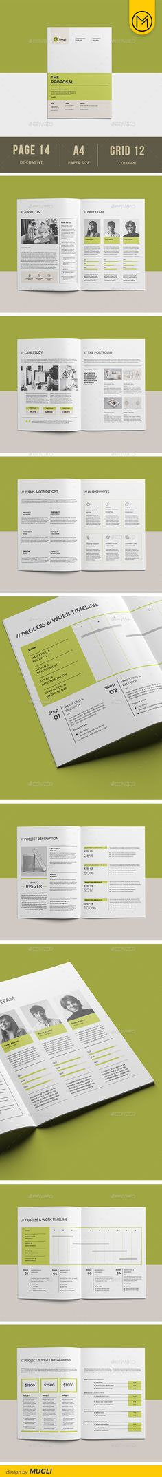 Sleman Clean Proposal Template Pinterest
