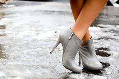 Grey ankle boots | Street #Fashion @ Couture Spring Summer 2013 #Paris #HauteCouture