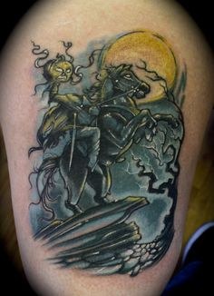 Headless horseman tattoo sleepy hollow tattoos for Tattoo shops roanoke va