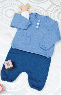 Pearltrees lets you organize all your interests Crochet For Boys, Knitting For Kids, Knit Or Crochet, Baby Knitting Patterns, Baby Patterns, Baby Boy Dress, Baby Pants, Baby Outfits, Kids Outfits