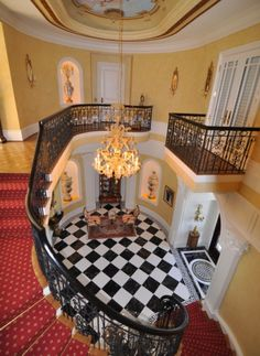 ridicullous victorian foyer-- not the mood I'm looking to set, but lovely nonetheless!