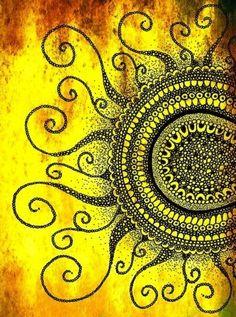 doodle-esque ink sun