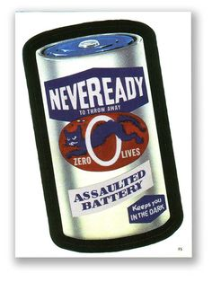 Wacky Packages Topps 4th Series 2006 Foil Sticker: Neveready Battery - F5