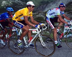 5 time winner, Miguel Indurain at the 1995 Tour de France (the last one he would win).