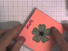 Stamping T! - Tip for using the Pansy Punch - YouTube