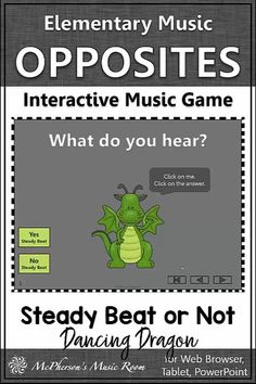 FUN elementary music game! Perfect for aurally identifying beat and no beat. Your music opposites lessons and centers will be a HIT with your kindergarten, first and second grade music classes! Check it out! Music Activities, Music Games, Music Class, Music Education, Elementary Music Lessons, Music Lesson Plans, Teaching Music, Second Grade, Teaching Ideas