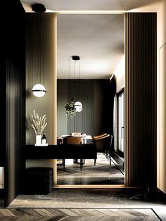 Interior Modern, Interior Design Minimalist, Contemporary Interior Design, Office Interior Design, Interior Decorating, Interior Architecture, Apartments Decorating, Decorating Bedrooms, Interior Sketch