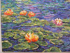 Mosaic Mural - Lotus Flowers - http://www.mosaicmosaic.com/