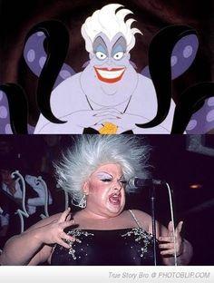 """1. Úrsula de """"La sirenita"""" fue basado en una famosa drag queen de nombre """"Divine"""""""