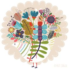 orange you lucky!: Joyous Bloom . . .by designer/illustrator Helen Dardik