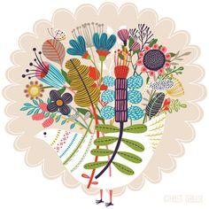 Bloom pattern illustration by Helen Dardik #flowers #surface_design