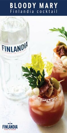 What's brunch without the best savory cocktail?! This recipe for Easy Bloody Mary combines all the classic ingredients—Finlandia Vodka, tomato juice, hot sauce, horseradish, and more. Plus, with inspiration for the most delicious garnish of mozzarella, salami, and olives, it's not hard to see why this drink will be a hit with your guests!