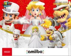 Amiibo: Комплект фигурок: Bowser Wedding Outfit + Peach Wedding Outfit + Mario Wedding Outfit (Super Mario Odyssey Collection)