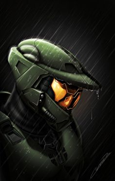 """It's a deep title I know, and there is no """"Death"""" in it as such, but the pose is to show Master Chief in a moment of deep thought, maybe reflecting on t. Halo - Death of a Spartan Halo 5, Halo Game, Halo Reach, Video Games Xbox, Video Game Art, Godzilla, Master Chief Costume, Science Fiction, Halo Armor"""