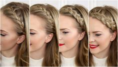 Four Headband Braids is a tutorial that will teach you how to do a French Braid Headband, Lace Braid Headband, Dutch Braid Headband, and Half Dutch Braid Headband. Headbands are all the rage right …