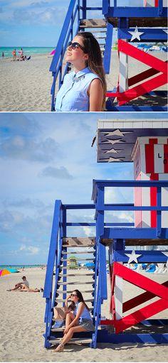 Look do dia em Miami: Day at the beach! | Les Divas