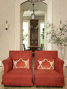 slipcovers with pleated ruffles