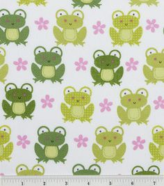 Novelty Quilt Fabric- Off White Pttn Trap Frogs & quilting fabric & kits at Joann.com      ***This would be cute with greens and pinks!