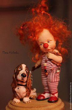 """Коллекционные куклы ручной работы. Ярмарка Мастеров - ручная работа. Купить """"Bella & Bob"""". Handmade. Рыжий, хлопок"""