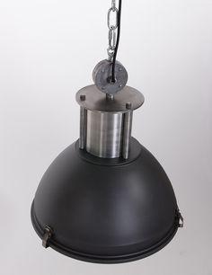 Industrielamp Lumidem Gulum 42 centimeter in stoer mat zwart