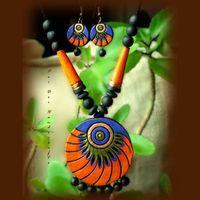 Summer Collection - Summer Evenings (Orange and Purple Round) https://www.facebook.com/terracottajewelryindia