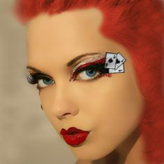 Queen of Hearts Xotic Eyes Make Up Las Vegas Showgirl Dancer ...