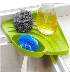 Instead of leaving your soaking wet sponge in the sink after washing dishes, use this holder, which features draining slots that'll help it dry up between cleanings.  BUY NOW: $9, amazon.com