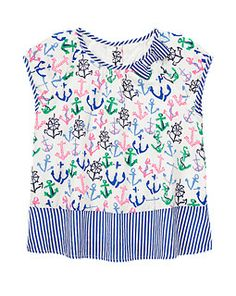 Stripes & Anchors Top