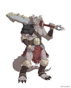 Dagonborn barbarian by hudinsantos on DeviantArt Fantasy Character Design, Character Drawing, Character Concept, Character Inspiration, Dungeons And Dragons Characters, Dnd Characters, Fantasy Characters, Barbarian Dnd, Dnd Dragonborn