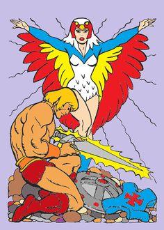 Sorceress, He-man, MOTU