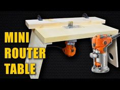In this woodworking tutorial I show you how to make a mini router table for a trim router (laminate router). Trim Routers or Laminate Routers (AKA Mini Route.