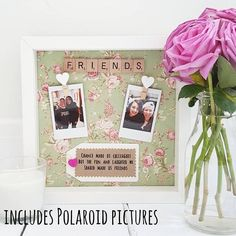 Best Friends Frame.  A perfect keepsake that is ideal as a friends birthday gift, Christmas gift, bridesmaid gift or simply just because you want to show that special someone how much they mean with the gift of handmade.  DESCRIPTION:  The backgrounds that are available are a