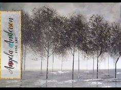 Black and White Trees Part 1 | Beginner Acrylic Painting | Easy Landscape in Grayscale - YouTube