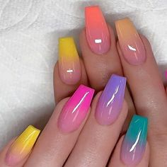 40 Fabulous Nail Designs That Are Totally in Season Right Now - clear nail art d. 40 Fabulous Nail Designs That Are Totally in Season Right Now - clear nail art designs,almond nail art design, acrylic nail art, nail designs with glitter designs Nail Design Glitter, Cute Acrylic Nail Designs, Ombre Nail Designs, Nail Art Designs, Nails Design, Glitter Nails, Ombre Nail Colors, Colourful Nail Designs, Clear Nails With Glitter