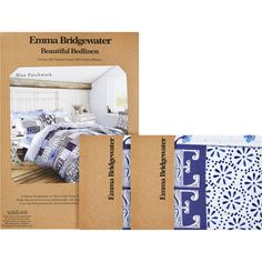 Emma Bridgewater Superking Blue Patchwork Duvet Set 200tc Tk