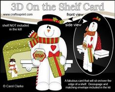 View 3D On the Shelf Card Kit - Santa Stop Here for Snowman Rio! Details
