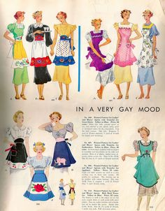 Vintage Apron Pattern from 1938 cataloque Vintage Apron Pattern, Retro Apron, Aprons Vintage, Vintage Paper Dolls, Vintage Sewing Patterns, Apron Patterns, Look Vintage, Vintage Ads, Vintage Stuff