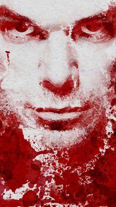 Dexter Blood Splatter Portrait