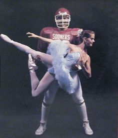 Football and ballet...yeah totally going to happen ...,... Lol