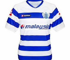 QPR Lotto 2011-12 QPR Lotto Home Football Shirt Brand new official QPR home shirt for the 2011-12 Barclays Premier League season. This short sleeved Queens Park Rangers football shirt ismanufactured by Lotto and is available to buy online in adult http://www.comparestoreprices.co.uk/football-shirts/qpr-lotto-2011-12-qpr-lotto-home-football-shirt.asp