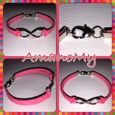 Bracelet#bracciale#jewels#infinito#strass#charms#handmade#alcantara#colori#bijoux#corallo#