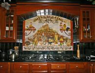 custom kitchen design mural