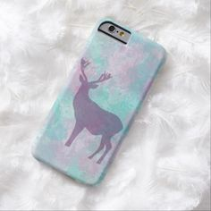 Winter deer silhouette pastel color iPhone 6 case