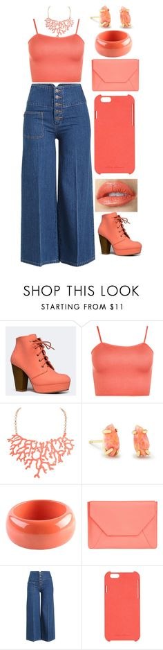 """""""Coral"""" by insanityoverhaul ❤ liked on Polyvore featuring Qupid, WearAll, Humble Chic, Kendra Scott, Dsquared2, Senreve, Marc Jacobs and Rick Owens"""